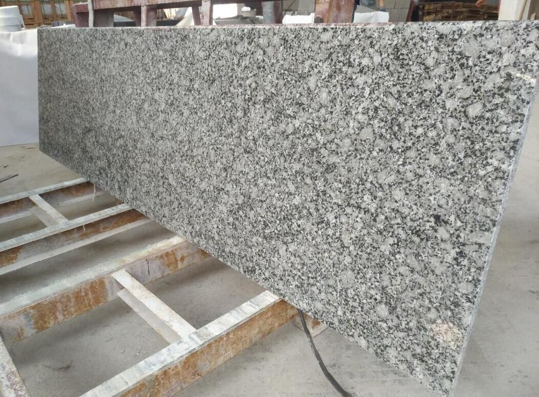Polished Light blue granite rain flower granite Polished Light blue granite rain flower granite