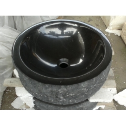 black color granite sink and basin