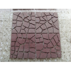 Red granite pavers