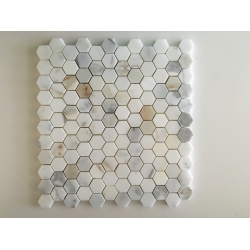 Calacatta gold hexagon marble mosaic