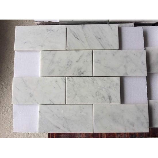 Compro azulejo de mosaico de m rmol blanco de carrara de for Color marmol carrara