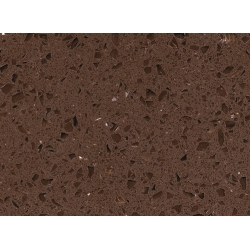 top RSC1815 Crystal Dark Brown Quartz Surface for sale