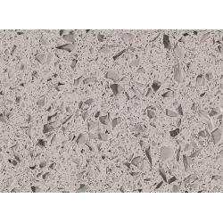 top RSC1806 Crystal Light Grey Quartz Surface for sale